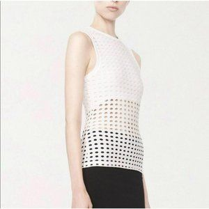 T by Alexander Wang Perforated Tank Top White